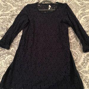 Tops - H&M Navy Lace Tunic Dress